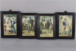 Four Hand Colored Engravings