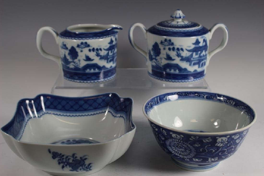 Mottahedeh Blue Canton and Chinese Bowl