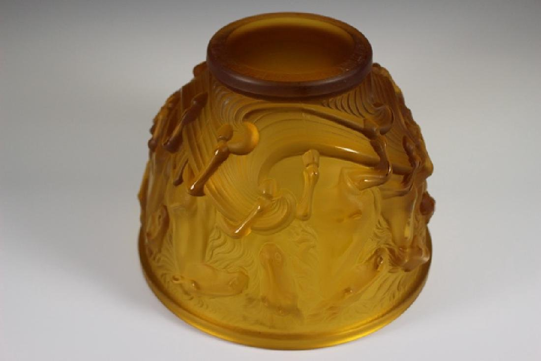 Lalique Style Crystal Horse Bowl - 5