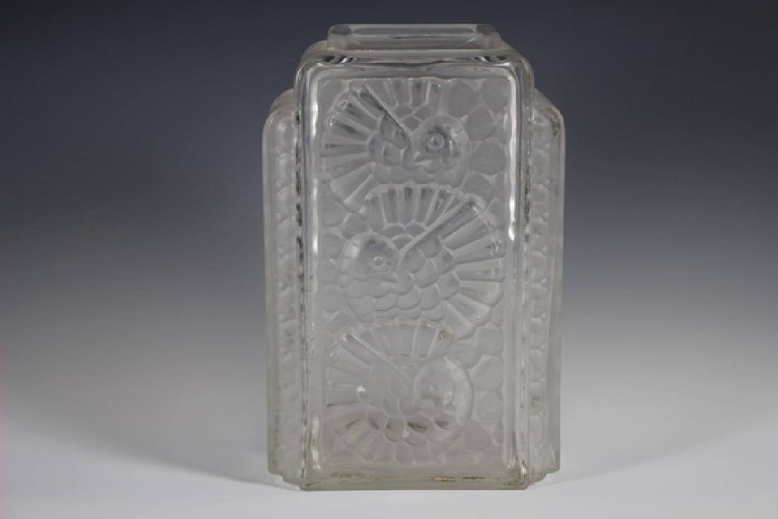 French Art Deco Glass Vase