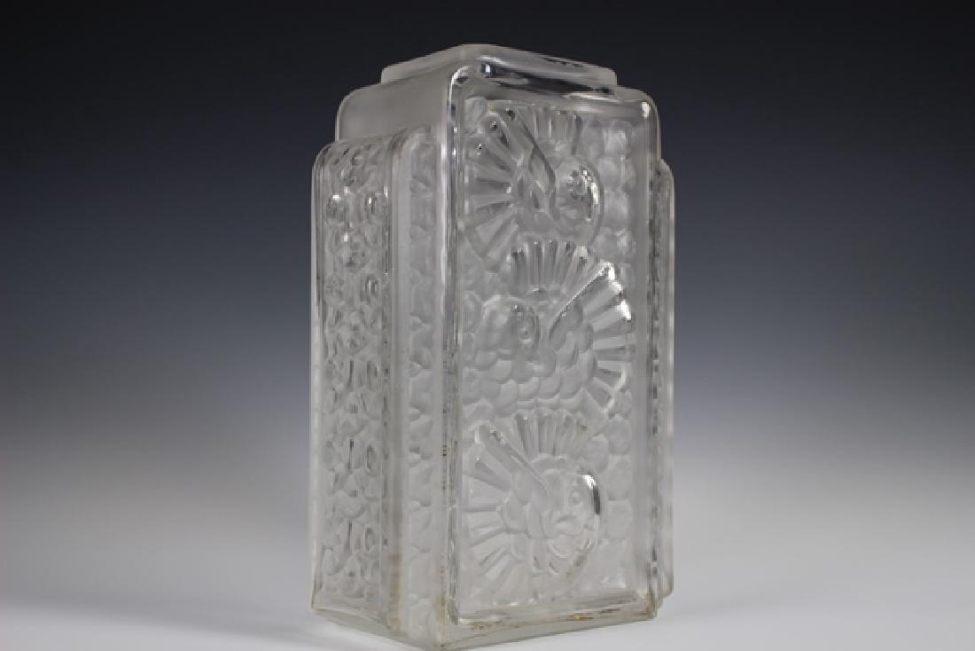 French Art Deco Glass Vase - 2