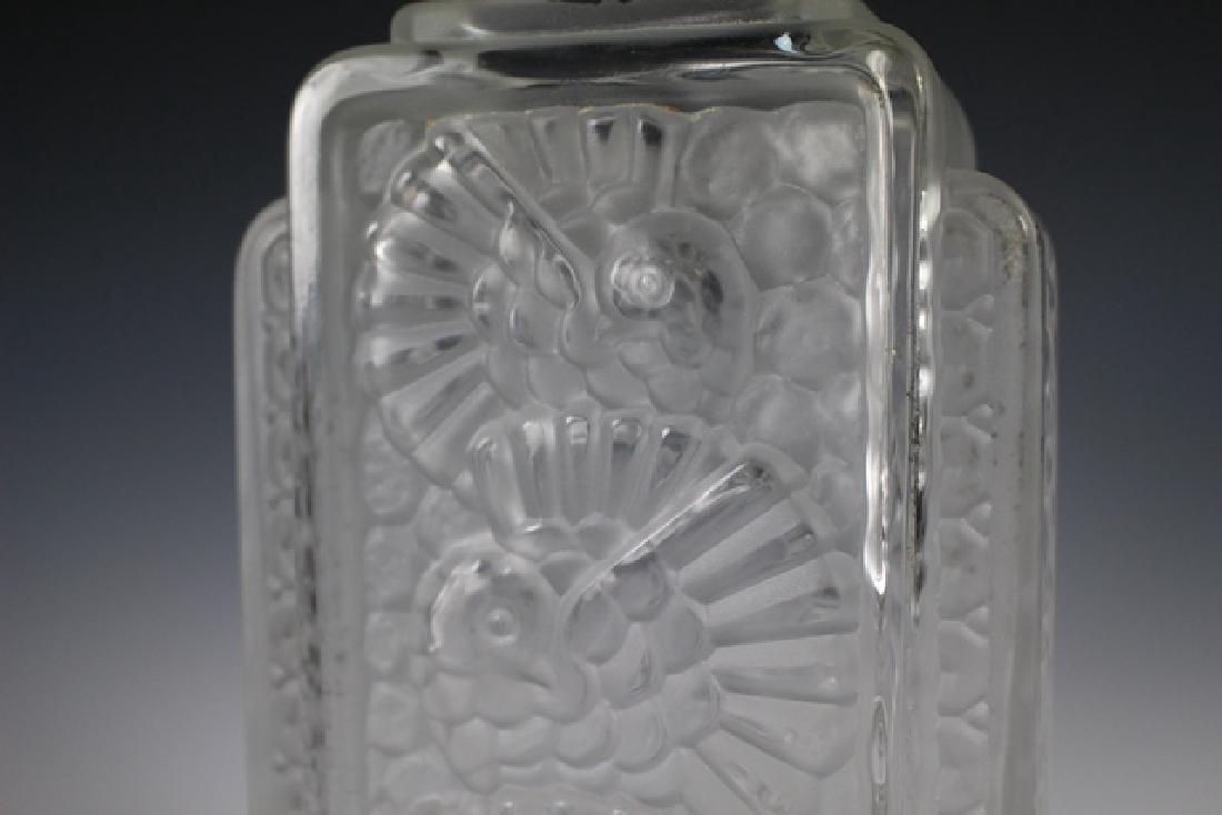 French Art Deco Glass Vase - 3