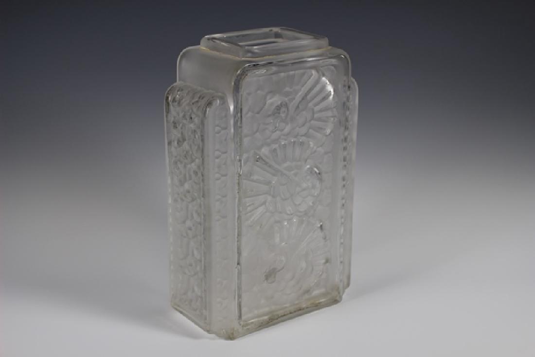 French Art Deco Glass Vase - 6