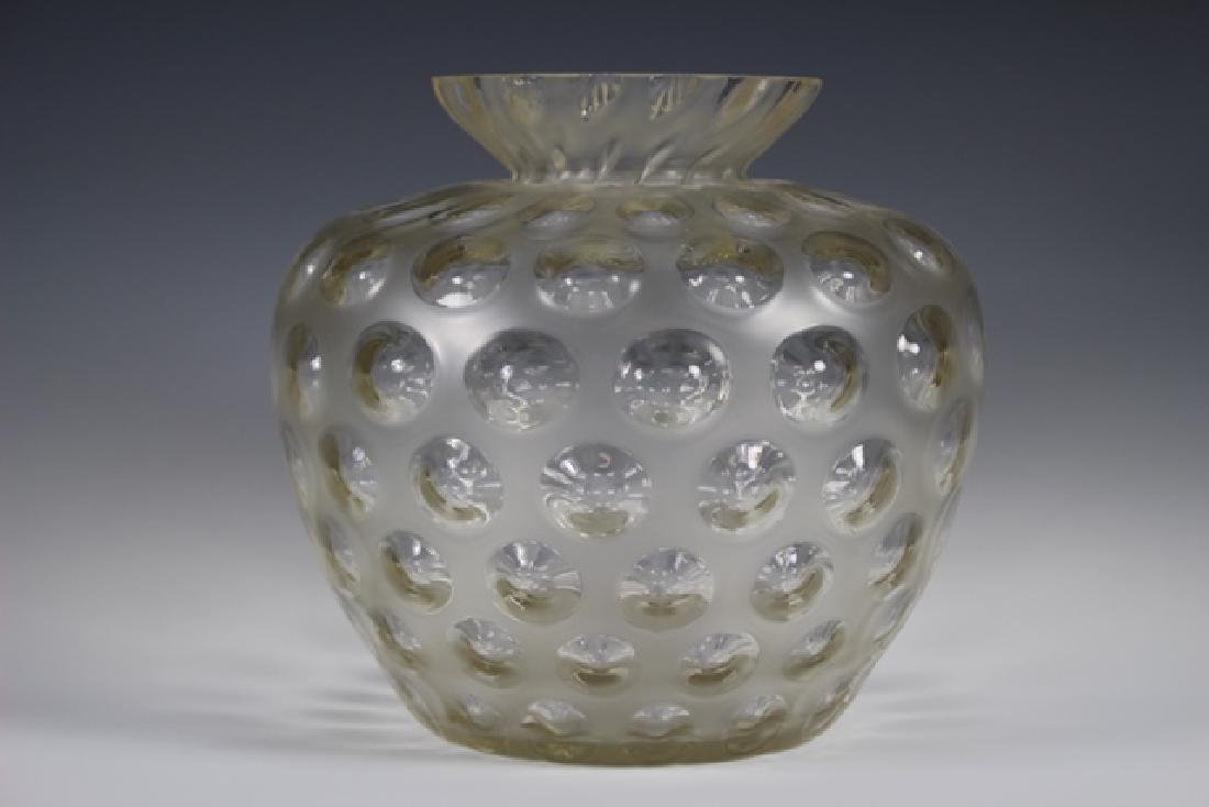 FRENCH Opalescent Coin Dot Vase
