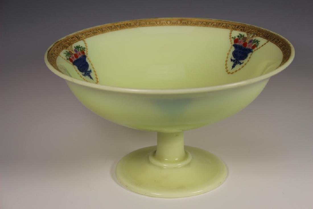 French Art Deco Custard Glass Compote