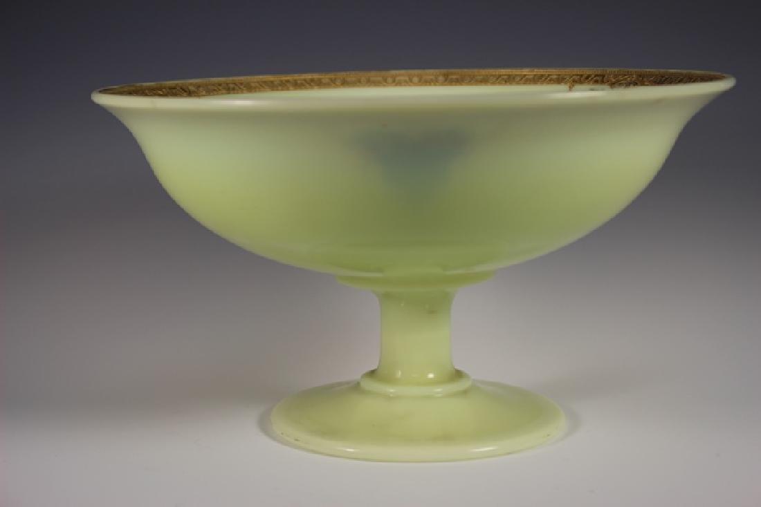 French Art Deco Custard Glass Compote - 3