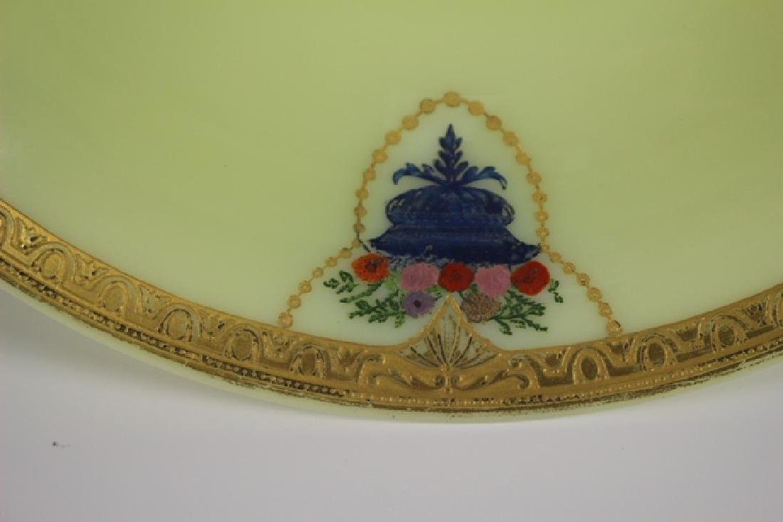 French Art Deco Custard Glass Compote - 5
