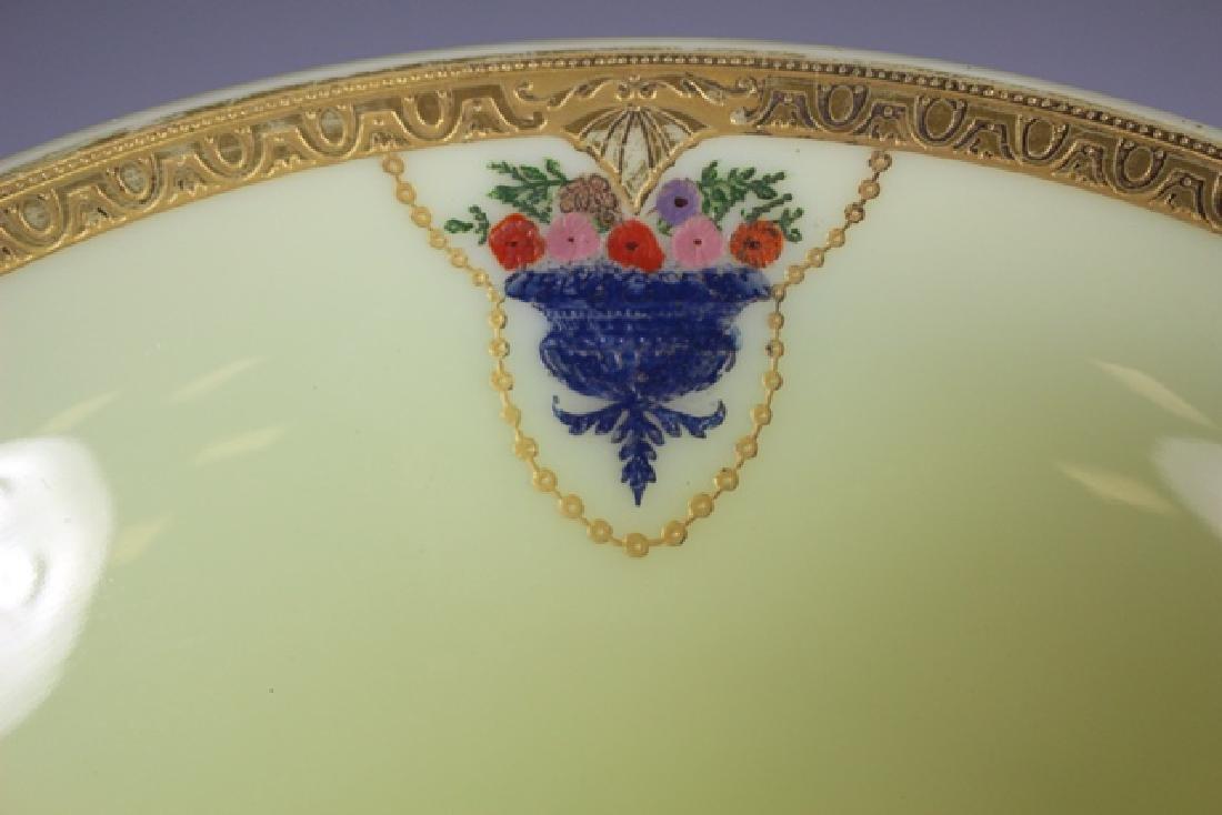 French Art Deco Custard Glass Compote - 6