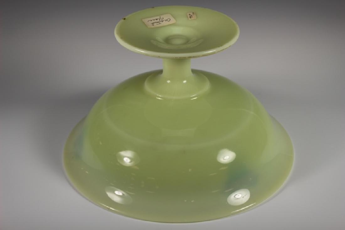 French Art Deco Custard Glass Compote - 7