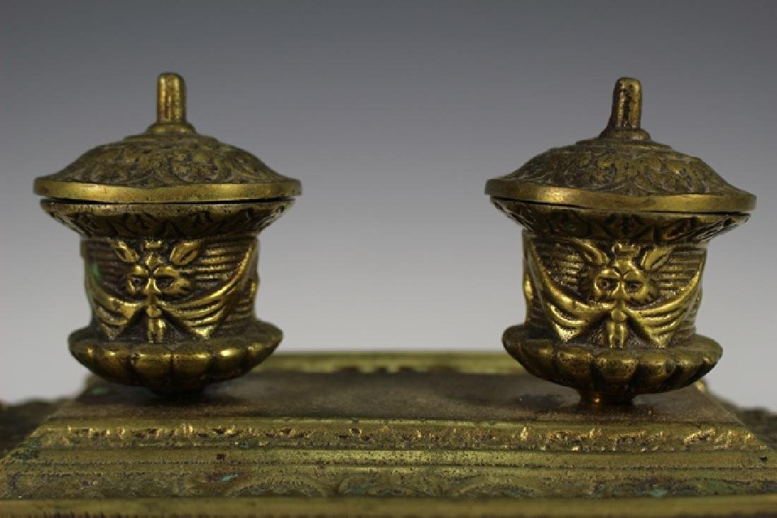 Early 20th Century  Brass Inkwell - 2