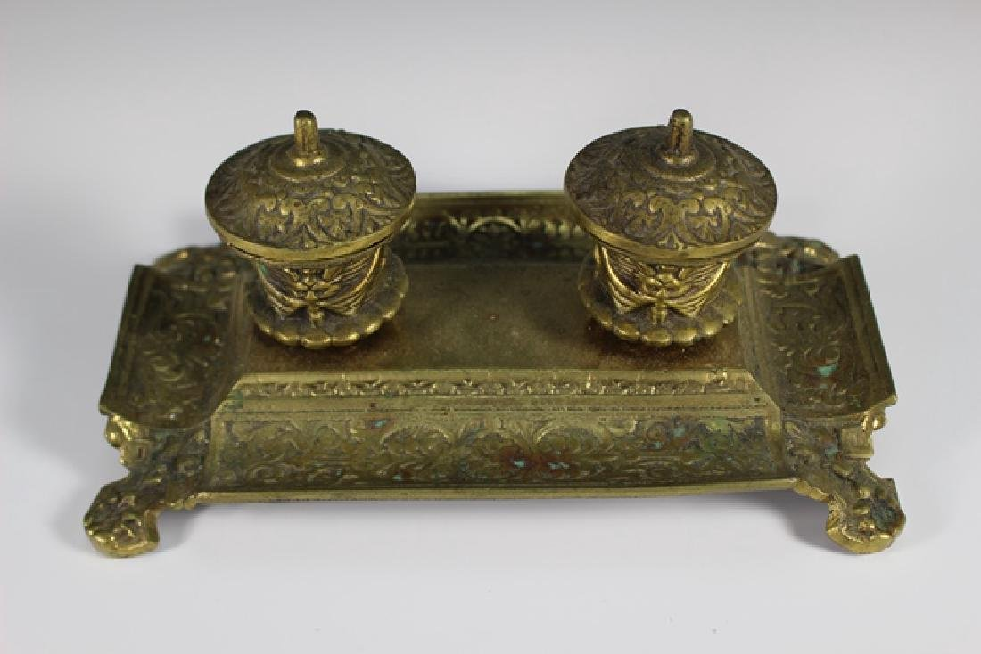 Early 20th Century  Brass Inkwell - 3