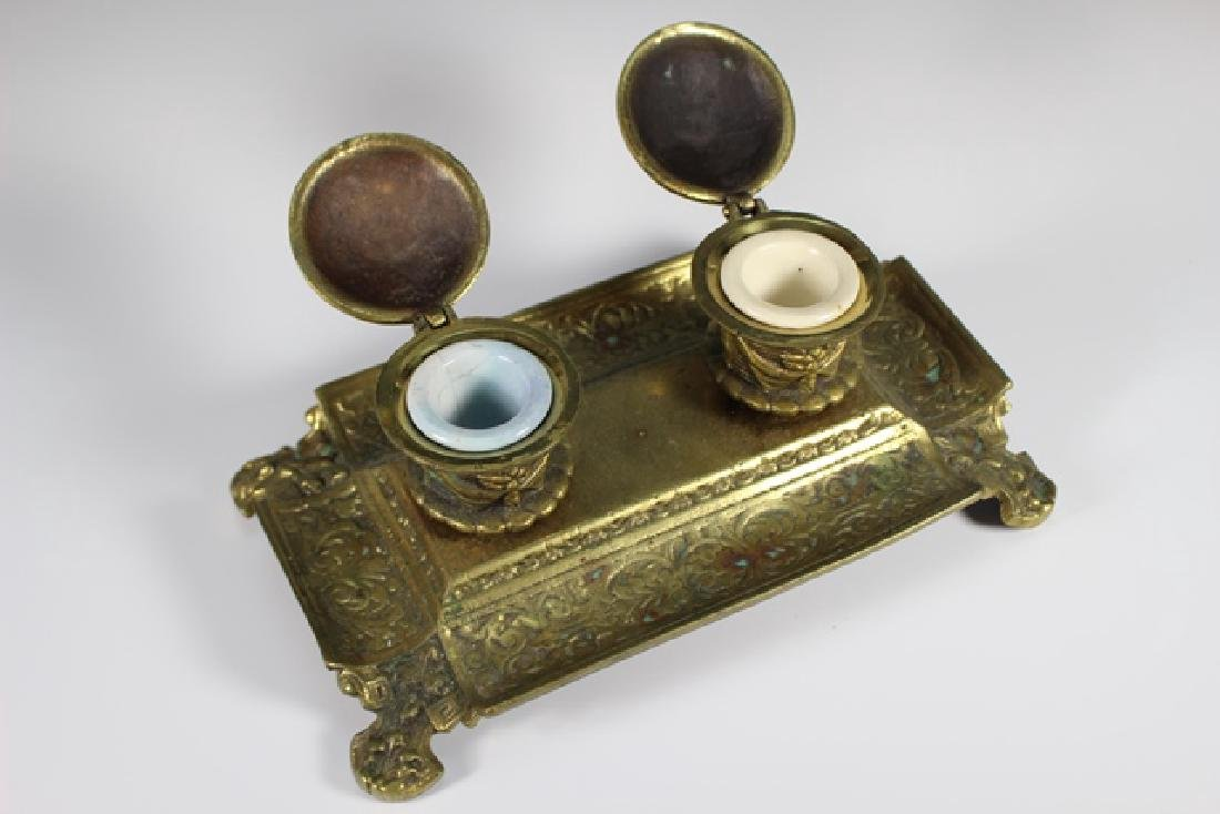 Early 20th Century  Brass Inkwell - 6