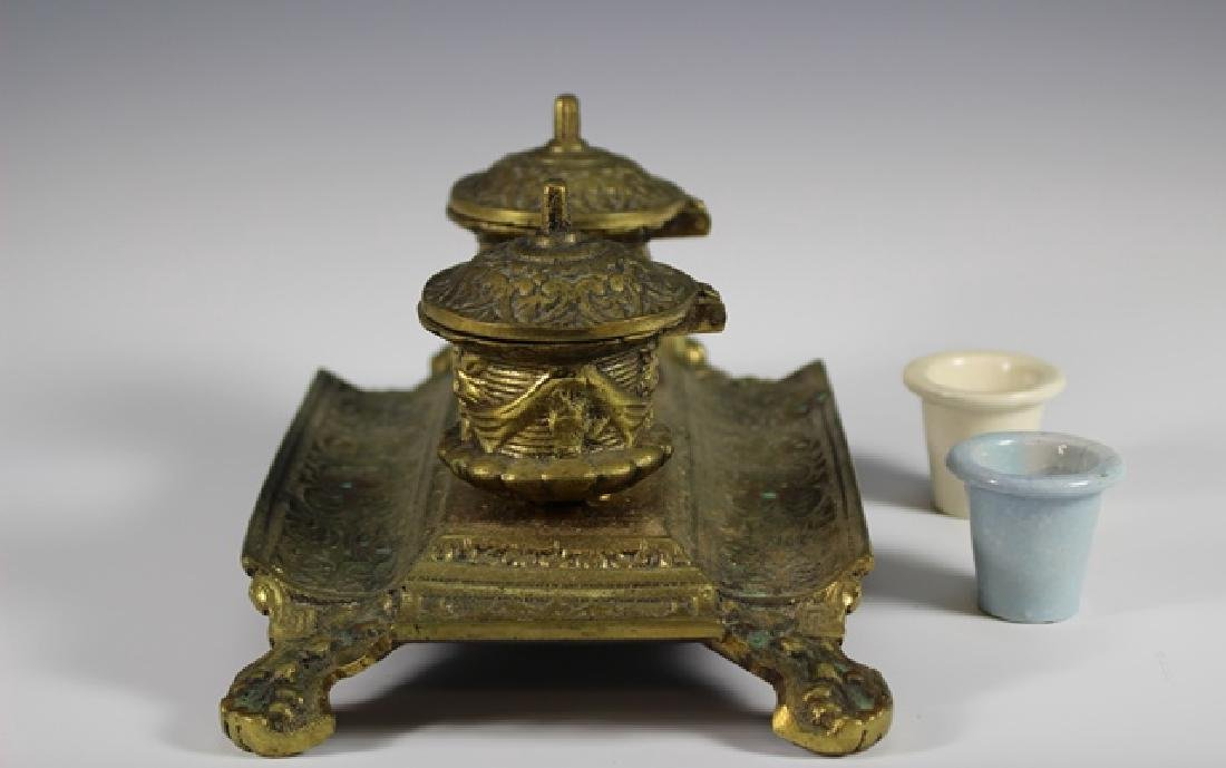 Early 20th Century  Brass Inkwell - 7