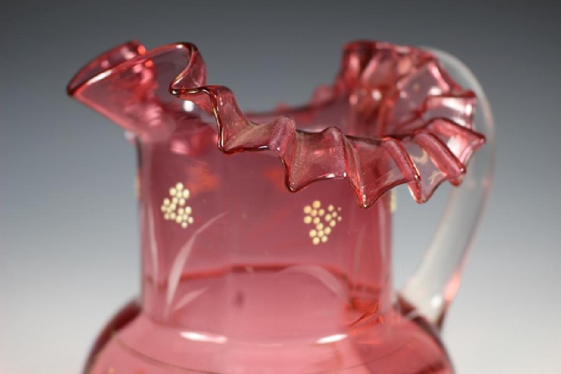 French Cranberry Serving Pitcher - 4