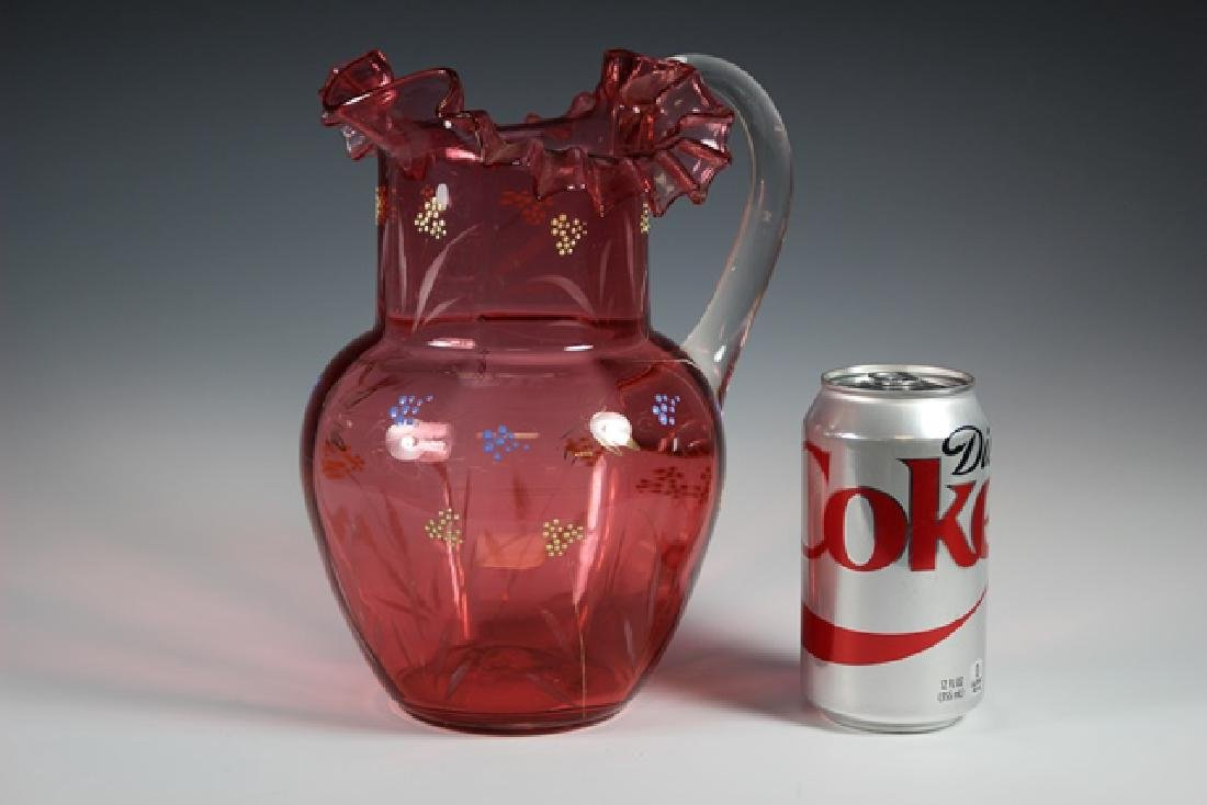 French Cranberry Serving Pitcher - 5