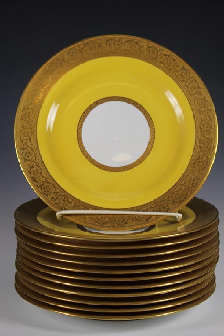 Set Of Twelve French Plates, Ovington's New York