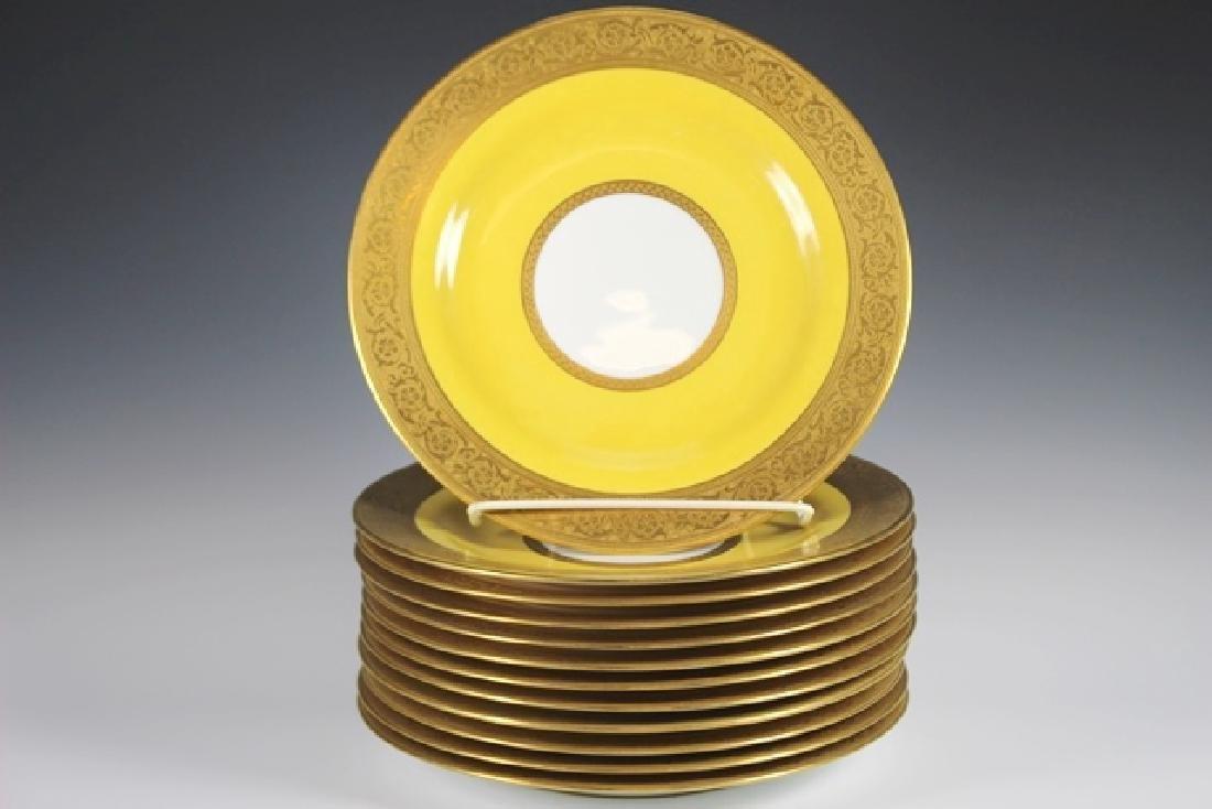 Set Of Twelve French Plates, Ovington's New York - 2