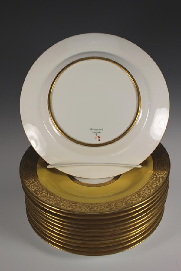 Set Of Twelve French Plates, Ovington's New York - 5