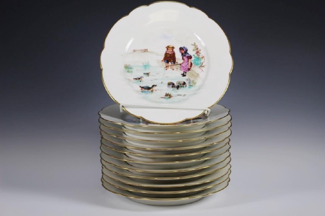 Set Of Twelve 19th. Century English Plates