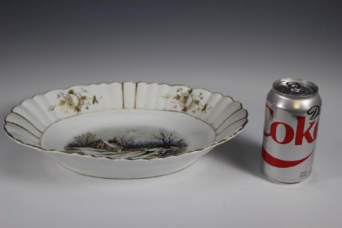 19th Century English Hand Painted Serving Bowl - 7