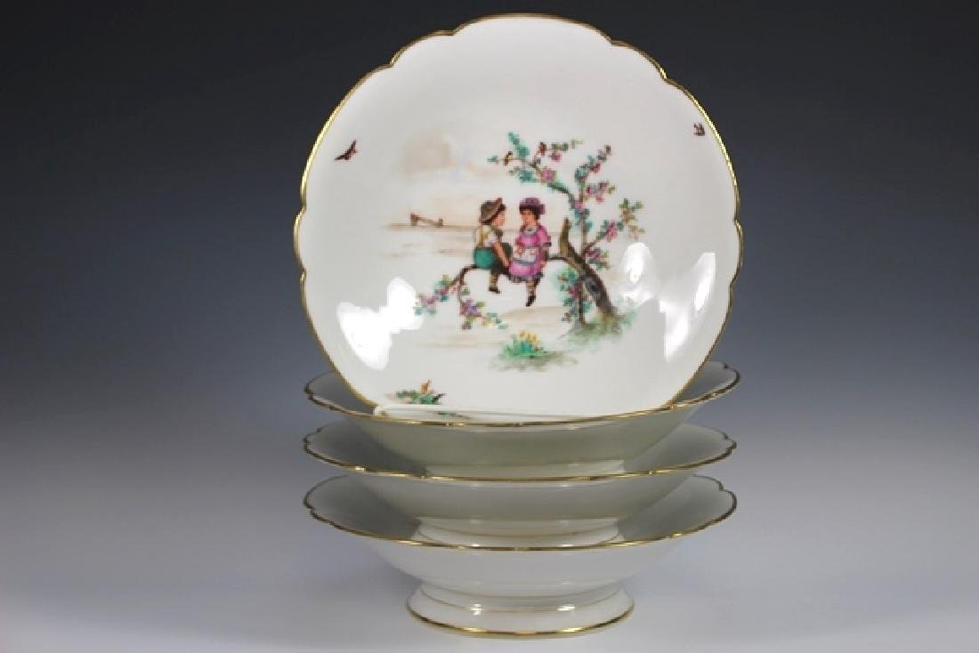 Soup Bowls Depicting Scenes Of Children Playing