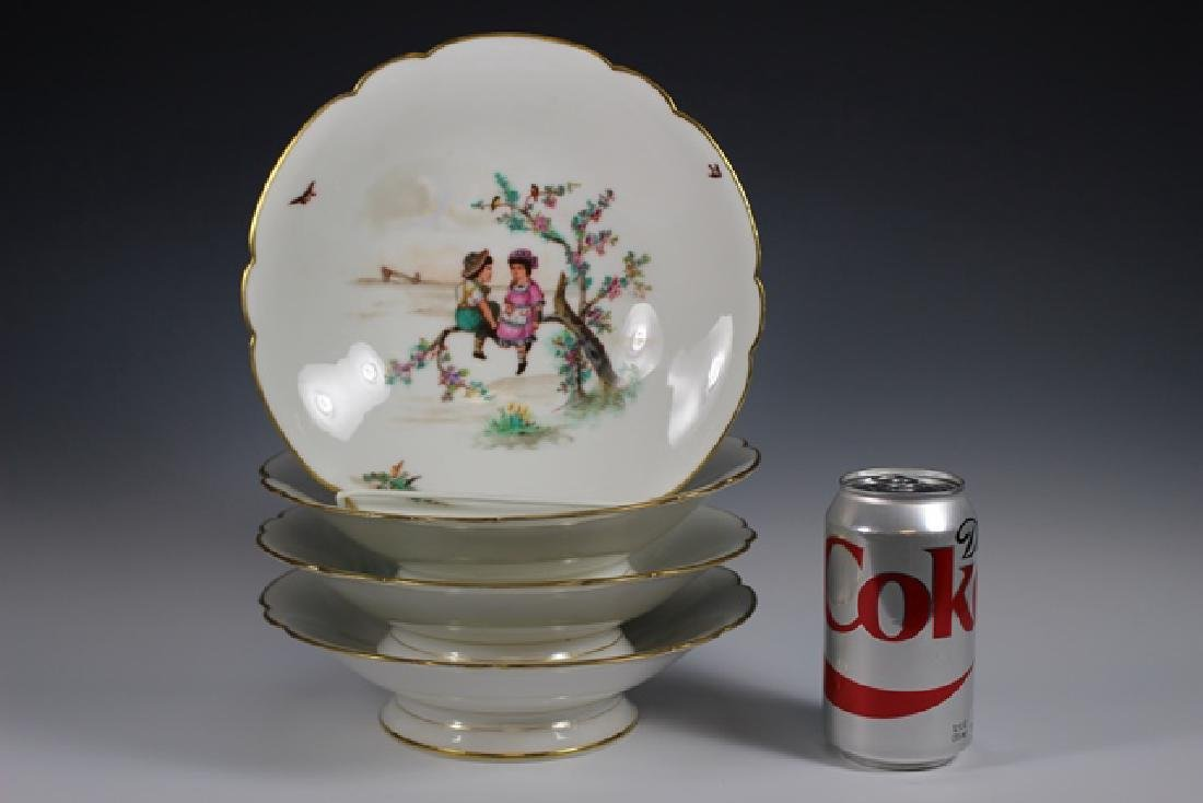 Soup Bowls Depicting Scenes Of Children Playing - 3
