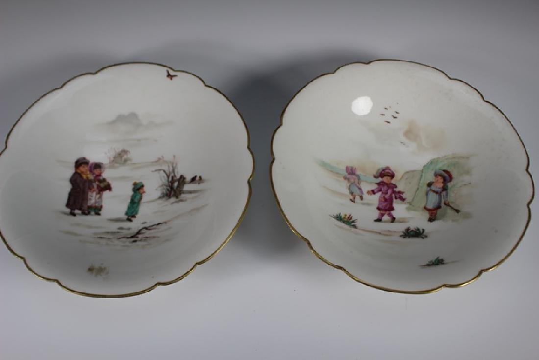 Soup Bowls Depicting Scenes Of Children Playing - 5