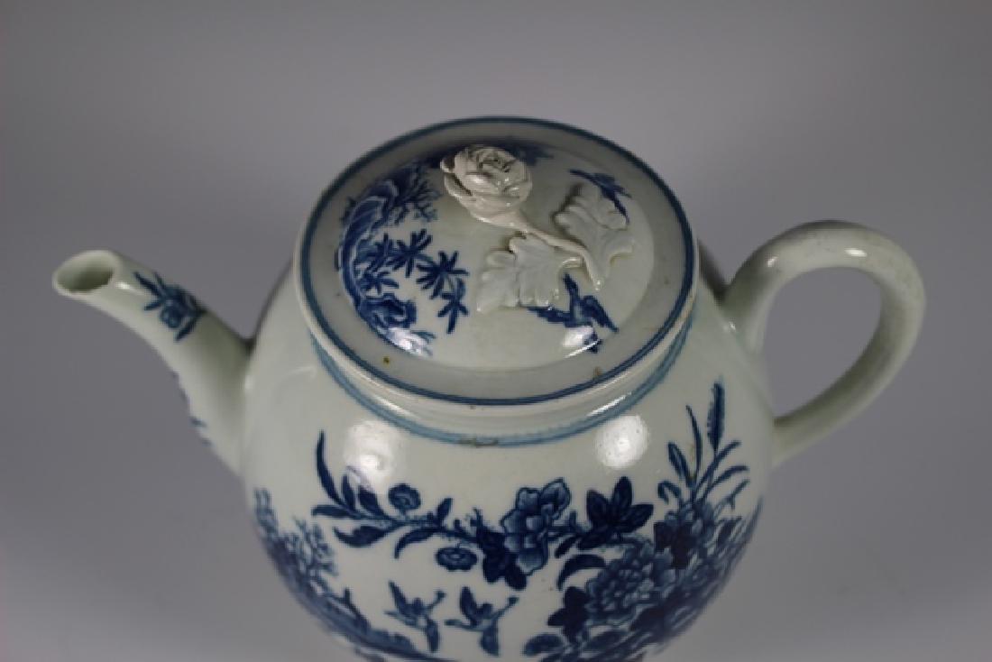Dr. Wall Period Worcester Porcelain Teapot - 5