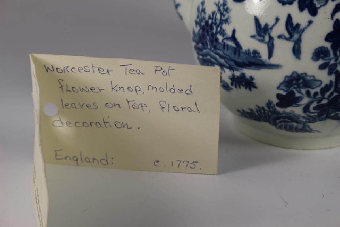 Dr. Wall Period Worcester Porcelain Teapot - 7