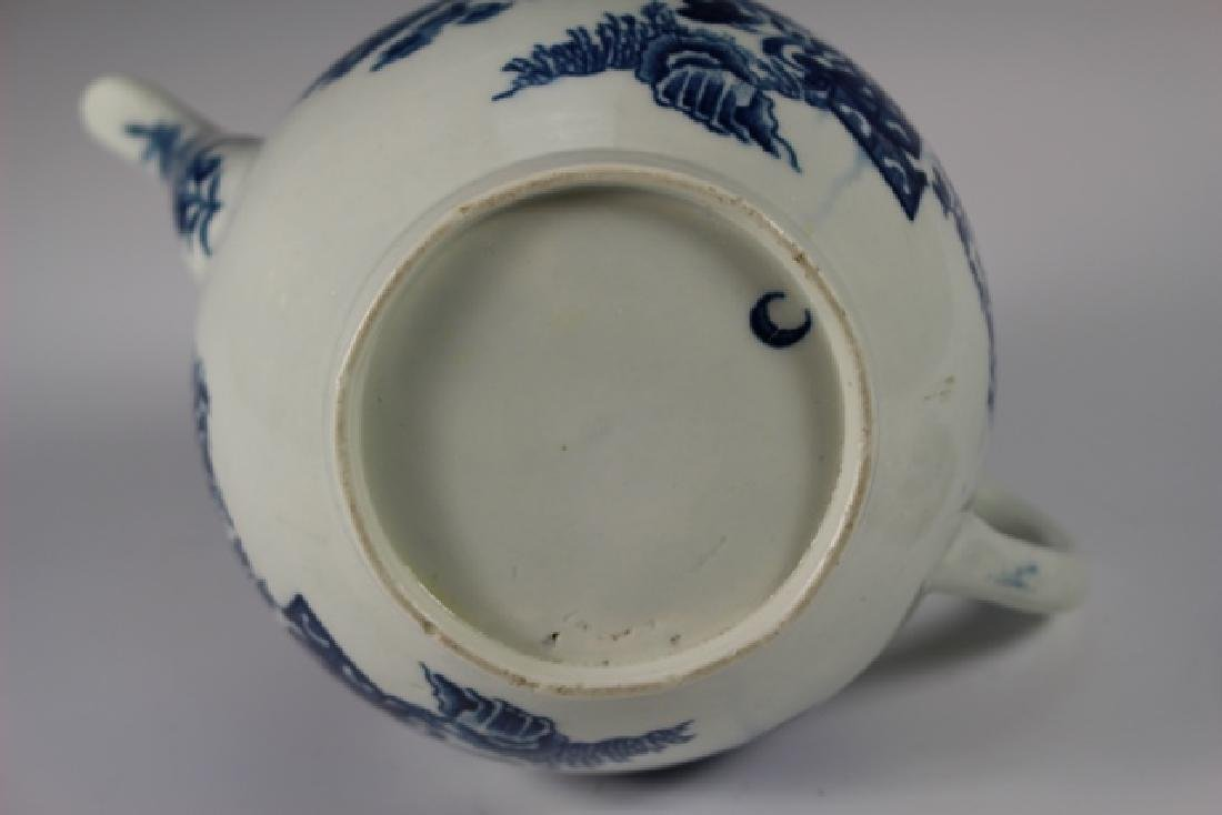 Dr. Wall Period Worcester Porcelain Teapot - 8