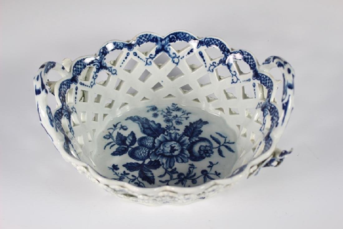 Dr. Wall Period Worcester Porcelain Basket - 2