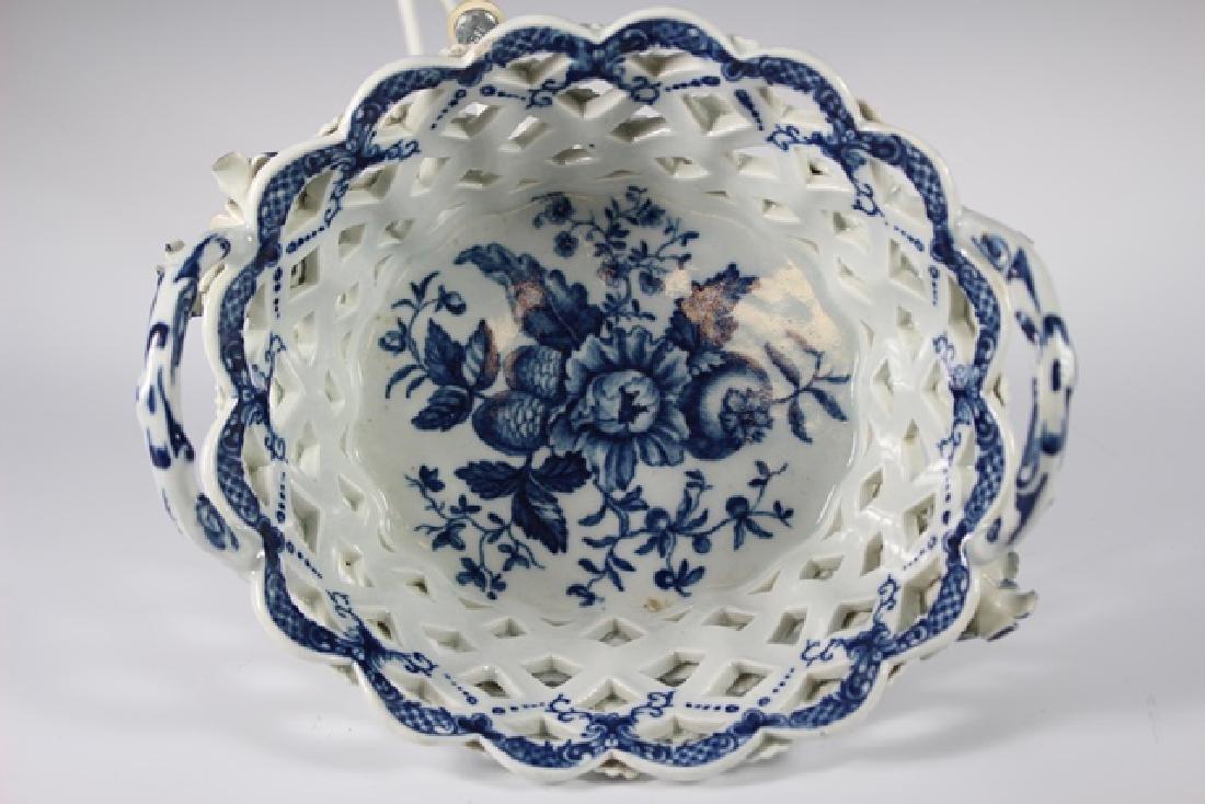 Dr. Wall Period Worcester Porcelain Basket - 3