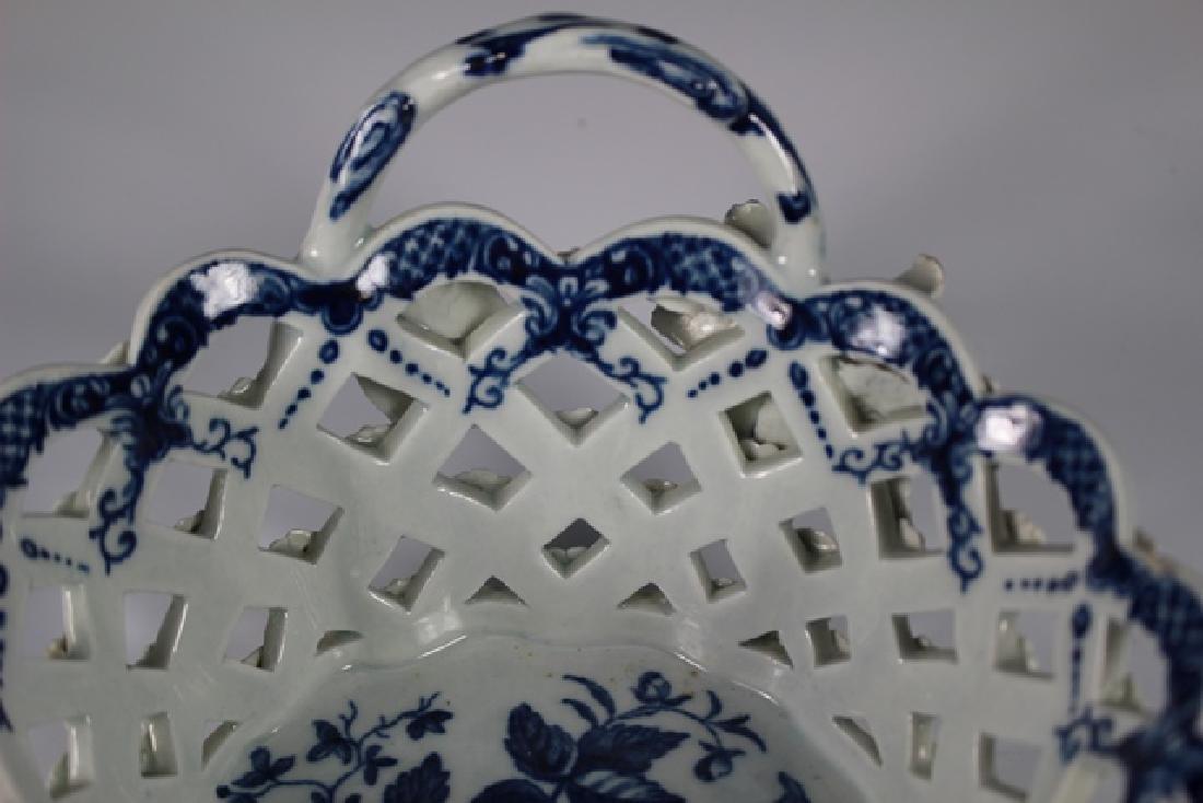 Dr. Wall Period Worcester Porcelain Basket - 7