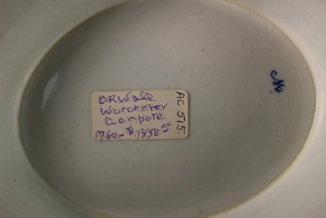 Dr. Wall Period Worcester Porcelain Footed Bowl - 8