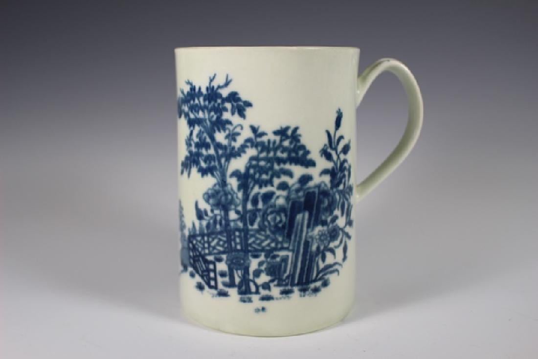 Dr. Wall Period Worcester  English Porcelain Mug