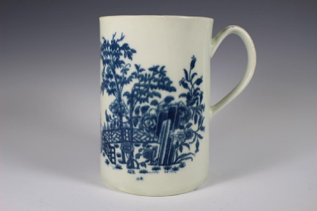 Dr. Wall Period Worcester  English Porcelain Mug - 2