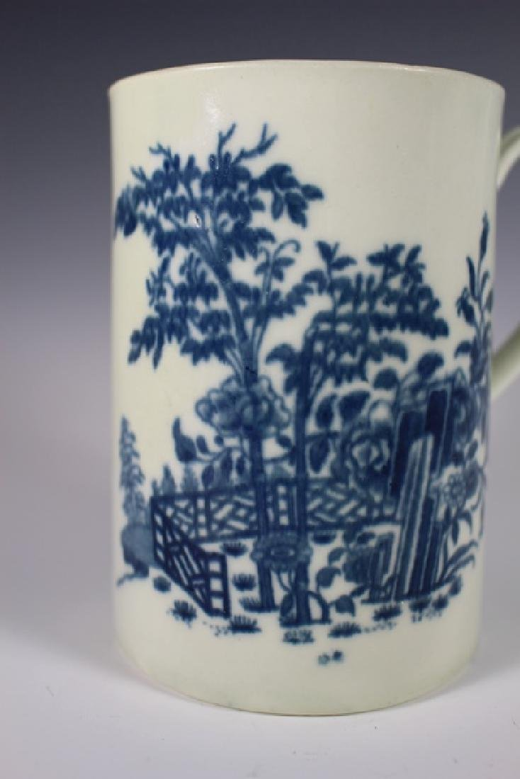 Dr. Wall Period Worcester  English Porcelain Mug - 3