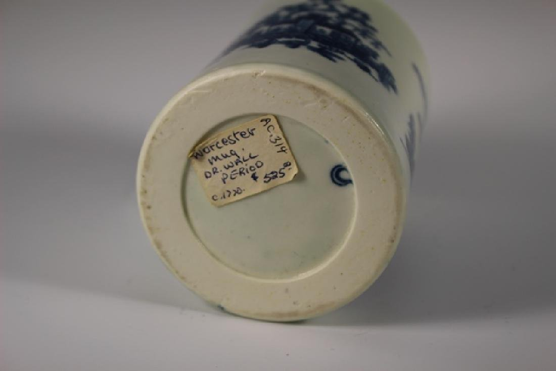 Dr. Wall Period Worcester  English Porcelain Mug - 8