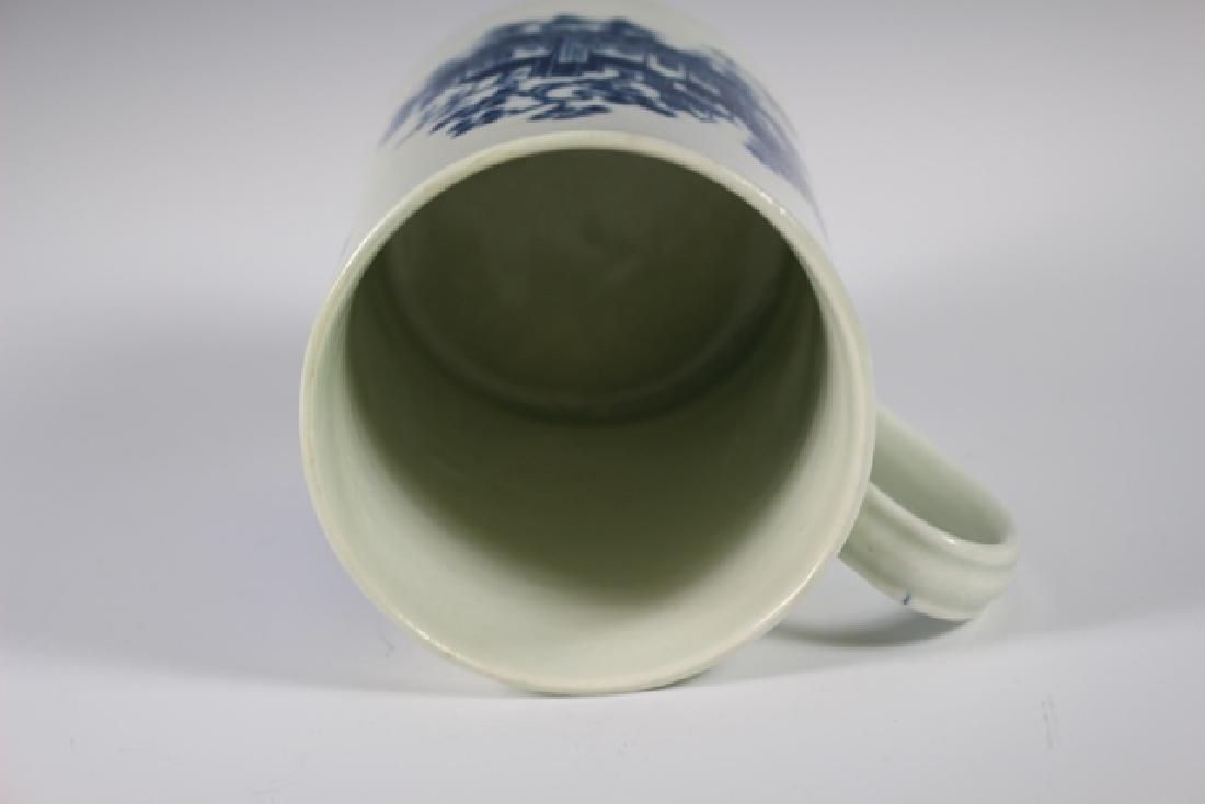 Dr. Wall Period Worcester  English Porcelain Mug - 9