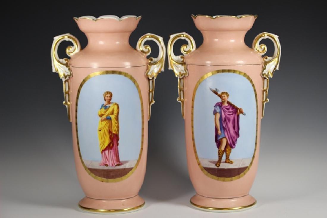 Pair of OLD PARIS Figural Vases