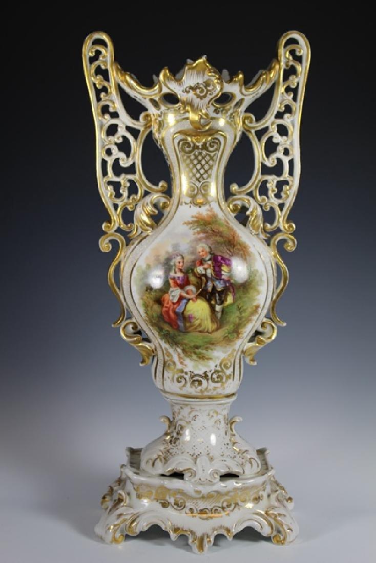 Monumental French OLD PARIS Porcelain Vase