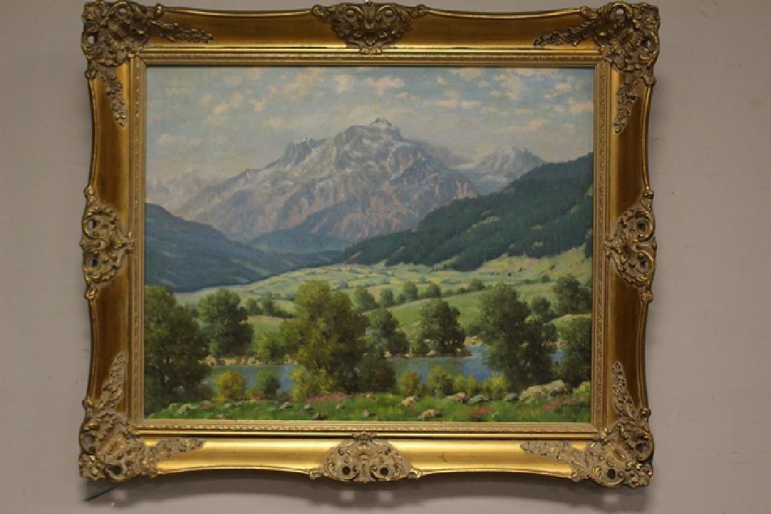 Hungarian Artist Imre Nemethy 1900-1980 of Mountain