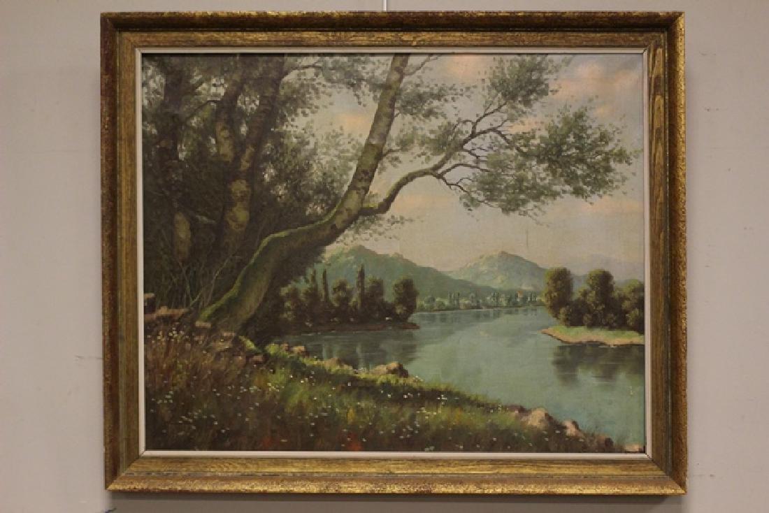 Hungarian Artist Imre Nemethi 1900-1980 of Sky Mountain