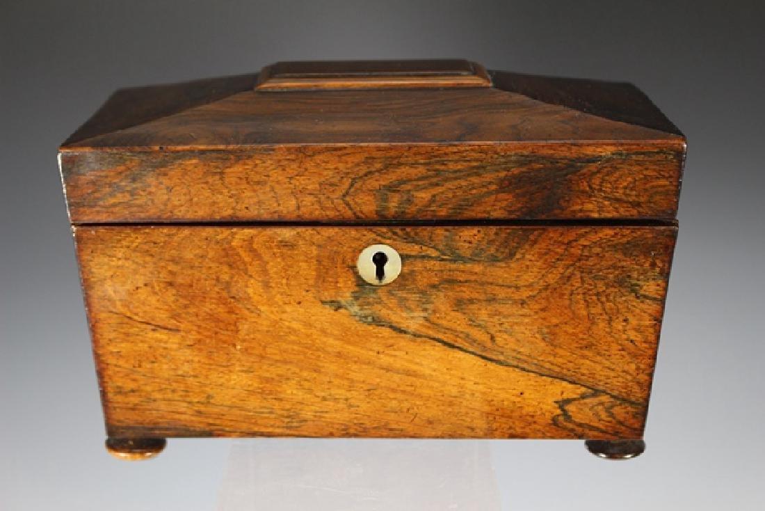 19th Century English Rosewood Casket Box