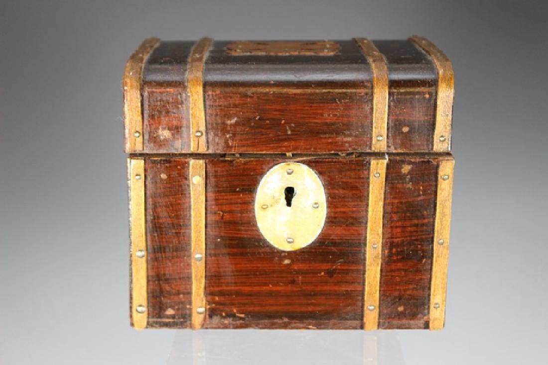 19th Century English Mahogany Document Box