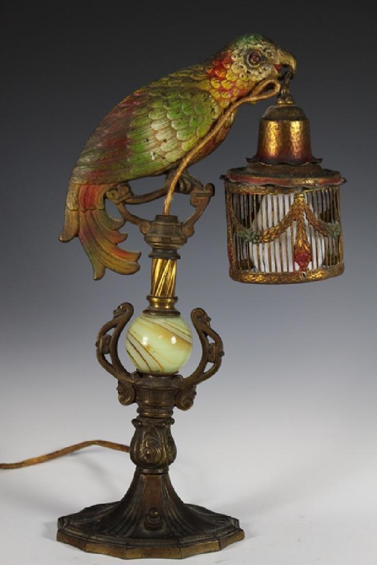 Art Deco Parrot Lamp