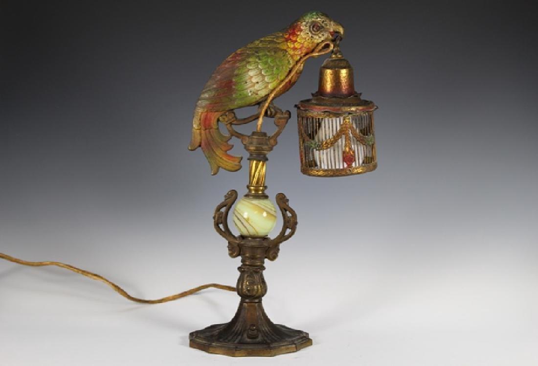 Art Deco Parrot Lamp - 2