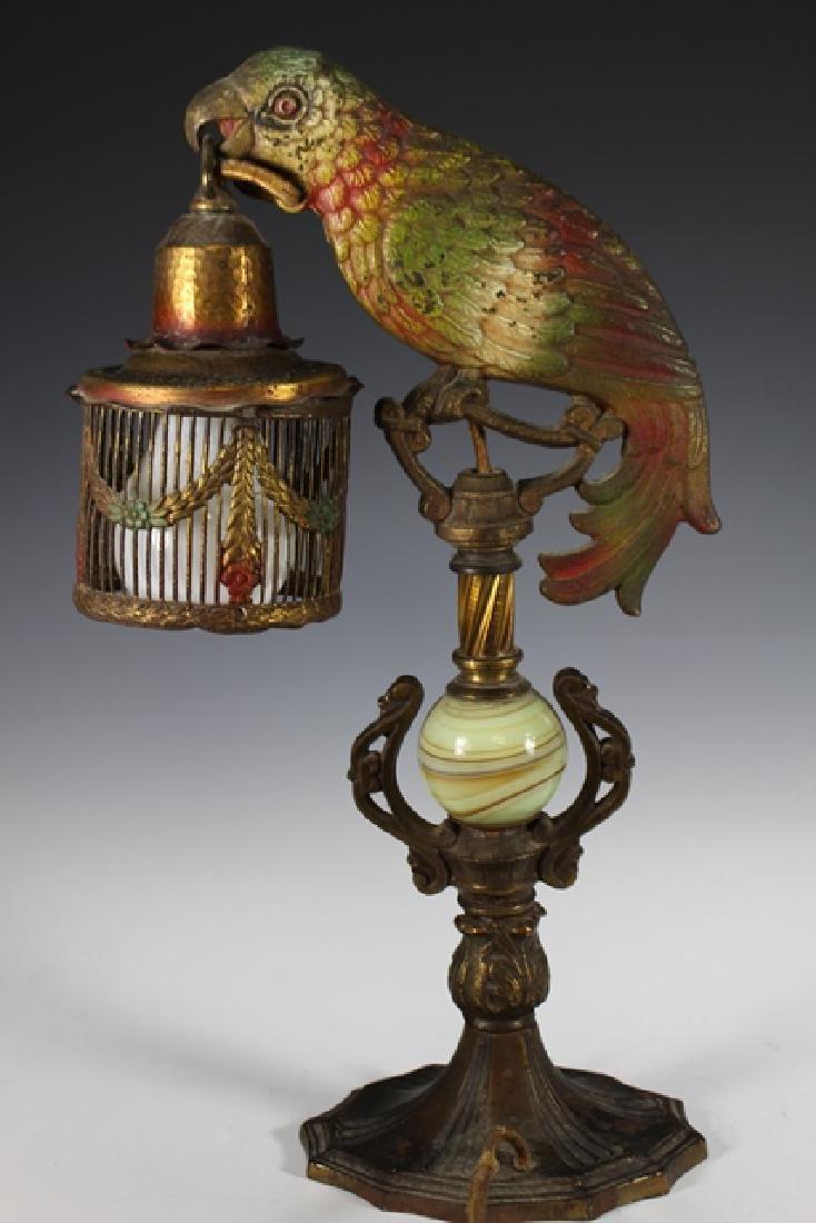 Art Deco Parrot Lamp - 4