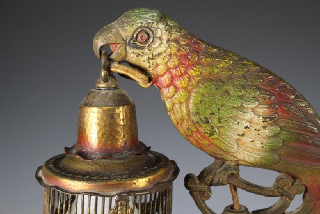 Art Deco Parrot Lamp - 5