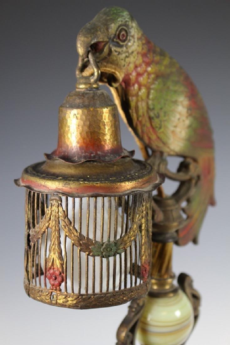 Art Deco Parrot Lamp - 8